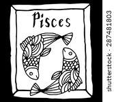 pisces horoscope sign... | Shutterstock .eps vector #287481803