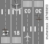 takeoff and landing airplanes... | Shutterstock .eps vector #287485853
