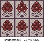 knitted seamless pattern.... | Shutterstock .eps vector #287487323