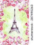 eiffel tower  | Shutterstock . vector #287490263