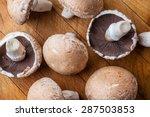 big brown champignon mushrooms... | Shutterstock . vector #287503853