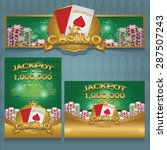 casino background  poster and... | Shutterstock .eps vector #287507243