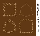 vector set of simple monogram... | Shutterstock .eps vector #287542397