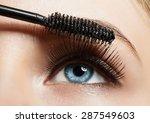 Close Up Of Make Up Blue Eye...