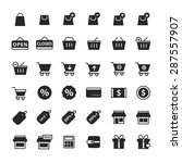 simple shopping icon set vector ... | Shutterstock .eps vector #287557907