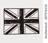 uk flag doodle | Shutterstock .eps vector #287576123