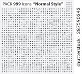 "Icon Set, Pack 999 Icons ""Normal Style"" 