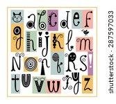 english alphabet. cute stylish... | Shutterstock .eps vector #287597033