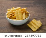 multigrain in white bowl on... | Shutterstock . vector #287597783