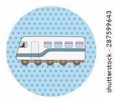 transportation train theme... | Shutterstock .eps vector #287599643
