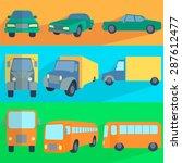 symbols car  truck  bus. set...   Shutterstock . vector #287612477