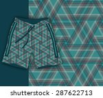 fashion swimmer shorts and...   Shutterstock .eps vector #287622713