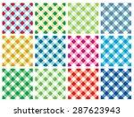 multicolor checkered vector... | Shutterstock .eps vector #287623943
