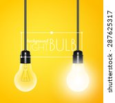 two hanging light bulbs ... | Shutterstock .eps vector #287625317