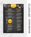 cafe menu restaurant brochure.... | Shutterstock .eps vector #287628713