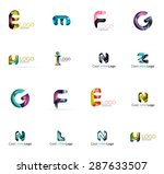 set of new universal company... | Shutterstock . vector #287633507