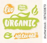 organic  natural  bio  eco and... | Shutterstock .eps vector #287633873