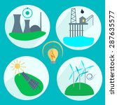 types of energy production... | Shutterstock . vector #287635577