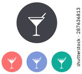 cocktail icon | Shutterstock .eps vector #287636813