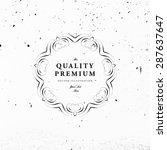 vintage frame for luxury logos  ... | Shutterstock .eps vector #287637647