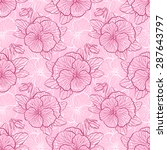 seamless floral pattern with... | Shutterstock .eps vector #287643797
