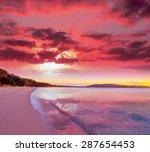 Pink Sunset In Mugoni Beach ...