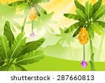 tropical jungle. bananas   Shutterstock .eps vector #287660813