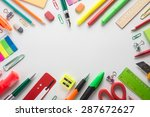 school office supplies   | Shutterstock . vector #287672627