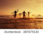 group of young friends having... | Shutterstock . vector #287674133