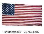 weathered american flag... | Shutterstock . vector #287681237