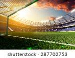Stadium Soccer In Day Light 3d...