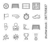 soccer icon | Shutterstock .eps vector #287705837