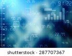 2d business graph background | Shutterstock . vector #287707367