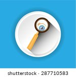 one white  gray  simple ... | Shutterstock .eps vector #287710583