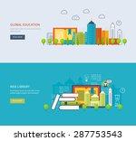 flat design modern vector... | Shutterstock .eps vector #287753543