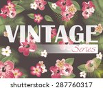 vintage background | Shutterstock .eps vector #287760317