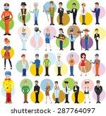 cartoon vector characters of... | Shutterstock .eps vector #287764097