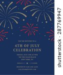 fourth of july invitation... | Shutterstock .eps vector #287769947
