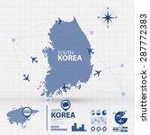 korea map infographic | Shutterstock .eps vector #287772383