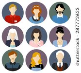 circle business team icons set... | Shutterstock .eps vector #287772623