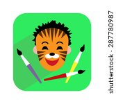 colorful icon. face painting.... | Shutterstock .eps vector #287780987