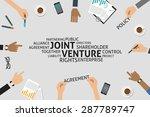 vector joint venture concept... | Shutterstock .eps vector #287789747