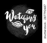 calligraphic hand drawn ink... | Shutterstock .eps vector #287792687