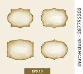 decorative design elements ... | Shutterstock .eps vector #287793203