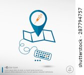 syringe icon and pin on the map.... | Shutterstock .eps vector #287794757