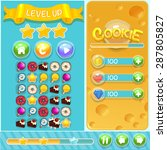 game cartoon interface  vector...