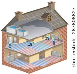 house maintenance   illustration | Shutterstock .eps vector #287808827