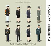 military army officer commander ... | Shutterstock .eps vector #287809343