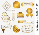 collection of golden premium... | Shutterstock .eps vector #287810117