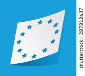 sticker with eu emblem ...